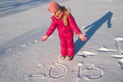 Hand schriftliche Meldung 2013 Stockfotos