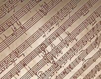 Hand schriftliche Musik Lizenzfreie Stockfotos
