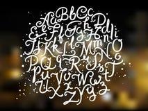 Hand schriftliches Alphabet lizenzfreie abbildung