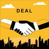 Hand schuddende transacties royalty-vrije illustratie