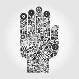Hand a science Royalty Free Stock Image