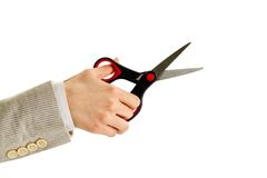 Hand with scissors Royalty Free Stock Image