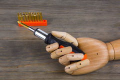 Hand and Screwdriver set Stock Images