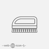 Hand-scrubbing brush. fetlock vector icon Royalty Free Stock Image