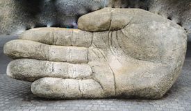 Hand sculpture Royalty Free Stock Image