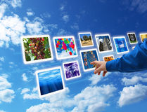 Hand select images flow royalty free stock photo