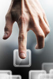 Hand, select. Touch screen Stock Photo