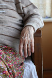 Hand of a senior person Stock Photos