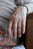 Hand of a senior person Royalty Free Stock Images