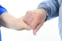 Hand senior Stock Photos