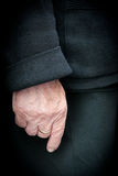 Hand of a senior woman Stock Photo