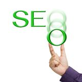 SEO in hand Royalty Free Stock Photography
