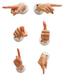 Hand Set Collection Stock Photo