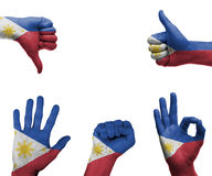 Hand set with the flag of philippines Stock Image