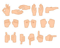 Hand set, isolated, vector illustration Royalty Free Stock Image