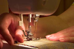 Hand sewing royalty free stock photography