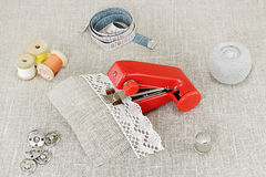 Hand sewing Stock Photos
