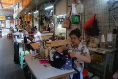 Hand sewing, Shenzhen in the East Gate commercial street Stock Photography