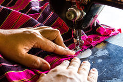 Hand sewn fabric Stock Images