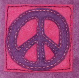 Hand-sewn Peace Sign Stock Image