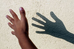 Hand Shadow Stock Image