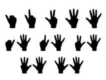 Hand shadows. Vector illustration of signs, EPS 8 files Stock Illustration