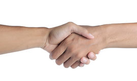 Hand shake. A hand shake between two businessmen Stock Photo
