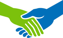 Hand shake. Illustration art of a hand shake with isolated background vector illustration