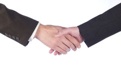 Hand shake. Of the business men and the women Stock Images