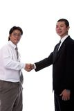 Hand shake 3. Asian Businessmen shakking hands, isolated Royalty Free Stock Photography