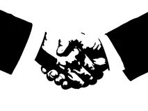 Hand shake. Clipart picture of a hand shake Royalty Free Stock Image