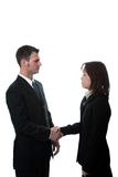 Hand shake 5. Asian Businesswomen and man shakking hands, isolated Stock Photography