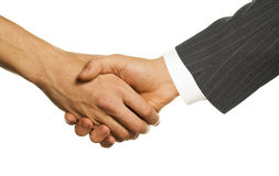 Hand-shake Royalty Free Stock Photography