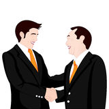 Hand shake business on white background Stock Photos