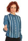Hand shake business woman Stock Photo