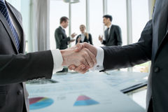 Hand shake of businessman Stock Photos