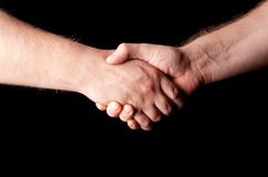 Hand-shake closeup Royalty Free Stock Photography