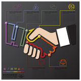 Hand Shake Connection Timeline Business Infographic Royalty Free Stock Photo