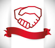 Hand shake design Stock Images