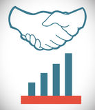 Hand shake design Royalty Free Stock Photo