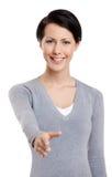 Hand shake gesture Stock Image