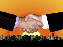 HANDSHAKE GLOBAL TECHNOLOGY BUSINESS INDUSTRY Royalty Free Stock Photo