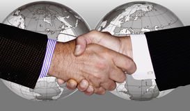 HANDSHAKE GLOBAL ENVIRONMENT TECHNOLOGY BUSINESS INDUSTRY Stock Images