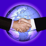HAND SHAKE GLOBAL TECHNOLOGY BUSINESS INDUSTRY Stock Photo