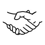 Hand shake icon. Help design. Vector graphic Royalty Free Stock Images