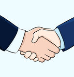 Hand shake illustration Stock Images