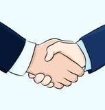 Hand shake illustration Stock Images