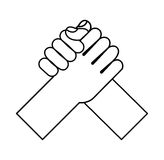 Hand shake isolated icon Stock Image