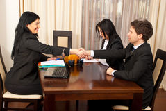 Hand shake at job interview Stock Photography