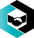 Hand shake Logo concept for Accounting Royalty Free Stock Photography